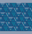 hues blue simple geometric seamless pattern vector image vector image