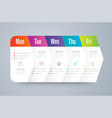 infographics design with 5 steps vector image