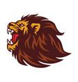 lion roaring logo mascot vector image vector image