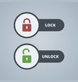 Lock and unlock for website or vector image