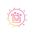 love mail line icon valentines message vector image
