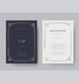 luxury vintage golden invitation card template vector image vector image