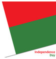 madagaskar independence day vector image vector image