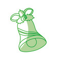 merry christmas bell icon vector image