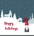 merry christmas card with cute scandinavian gnome vector image