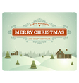 Merry Christmas postcard ornament decoration vector image vector image