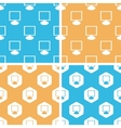 Monitor pattern set colored vector image vector image