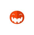 monster face logo icon monster logotype open vector image