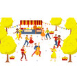 music festival poster design with dancing couples vector image vector image