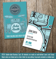 Percussionist Business Card vector image vector image