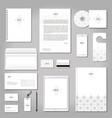 realistic corporate brand identity mockup set vector image