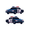 retro police cars set isometric view police vector image vector image