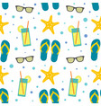 seamless pattern with summer beach elements vector image vector image