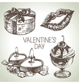 Set of Valentines Day vector image vector image