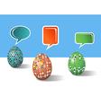 Social media decorative Easter eggs vector image vector image