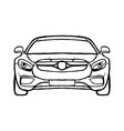 sport car line art vector image