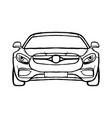 sport car line art vector image vector image