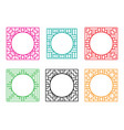square window frame with circle hole at center vector image vector image
