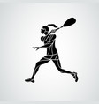 squash player female creative abstract silhouette vector image vector image