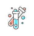 test tube rgb color icon vector image