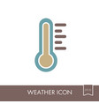 thermometer heat hot icon meteorology weather vector image vector image