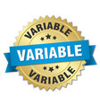 variable round isolated gold badge vector image vector image