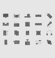 video audio equipment icons 05 vector image vector image