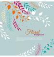 Watercolor floral vector image vector image