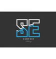 white blue alphabet letter se s e logo icon design vector image vector image