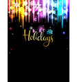 winter holidays party invitation vector image vector image