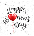 womens day poster with text greeting card with vector image