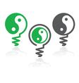 Ying yang light bulb symbol vector image
