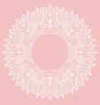 zenart round frame with pattern from leaves lace vector image vector image