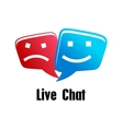 Live Chat icon vector image