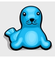 Blue seal Childrens soft toy vector image