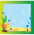 Frame - marine life vector image