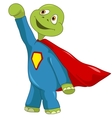 Funny Turtle Superman vector image