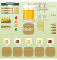 vintage infographics set - beer icons and elements vector image