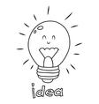bulb idea Doodle vector image