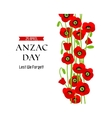 A poppies commemorative card vector image