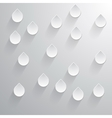 Abstract 3D Drops on a gray background vector image
