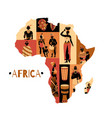 african culture continent composition vector image vector image
