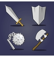 Ancient weapon collection vector image