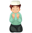 arab muslim boy in traditional clothing isolated vector image vector image