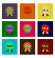 assembly of flat shading style icon sale label vector image vector image