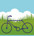 bicycle vehicle in the park vector image vector image