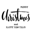 Black and White Grunge Christmas lettering New vector image vector image