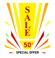 bright banner on white background sale discount vector image vector image