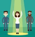 Businesswoman in spotlight vector image