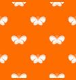 butterfly pattern orange vector image